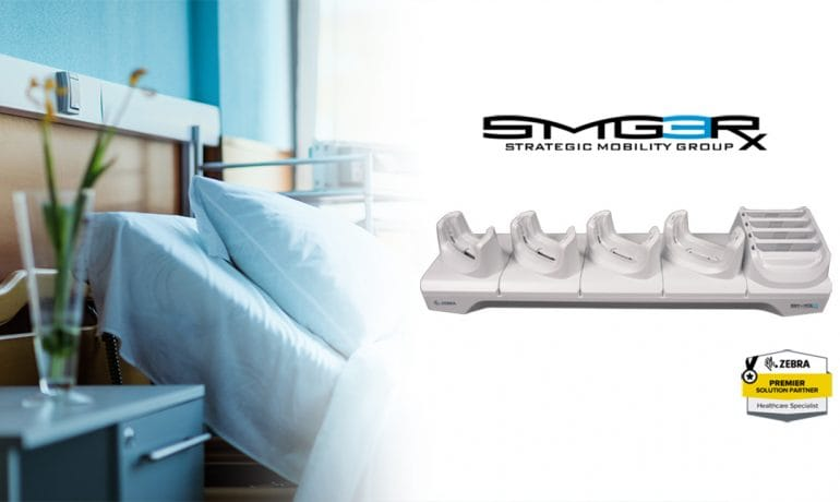 SMG3 branded Zebra healthcare charge cradle is here